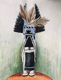 Georgia O'Keeffe inspired Kachina Doll drawing Video
