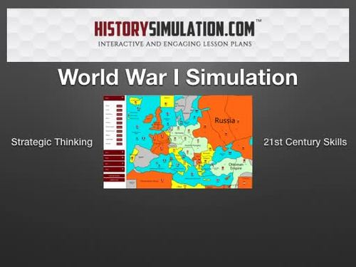 WW1 Simulation Activity Lesson Home School + 1 Year Online Subscription