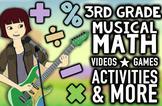 Musical 3rd Grade Common Core & TEKS Math Review Program w