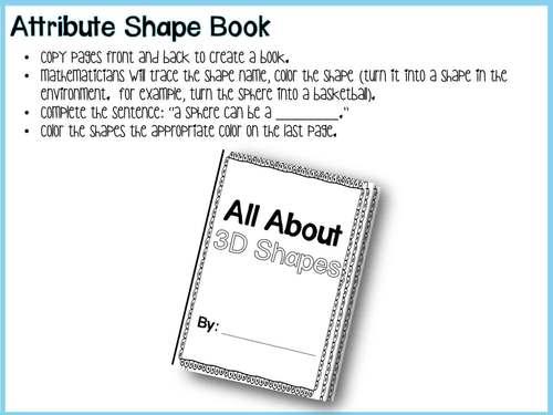 3D Shapes and Environmental Shapes