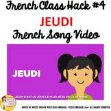 """4 French Class Transition Video """"Thursday"""" for CI TCI TPRS"""