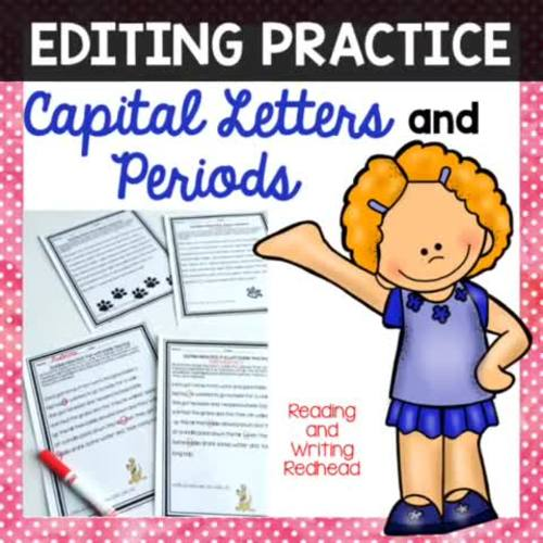 Editing and Proofreading Sentences Practice Worksheets and Printables