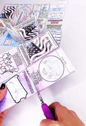 50 States Mini Foldable Report Booklets