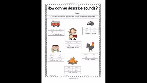 1st Grade NGSS (1-PS4-1) How can we describe sound?