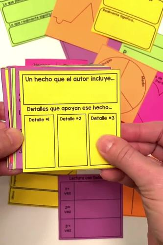 Reading Response Sticky Notes - Spanish