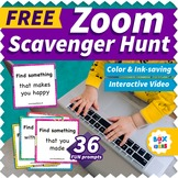 Zoom Scavenger Hunt Video: Fun Virtual Distance Learning A