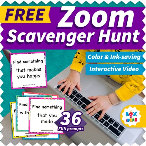 Zoom Scavenger Hunt Video Fun Virtual Distance Learning Activities