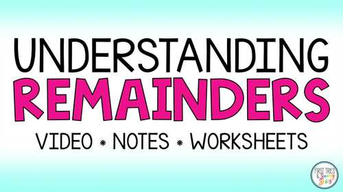 Division With Remainders Worksheets - Interpreting Remainders - Differentiated