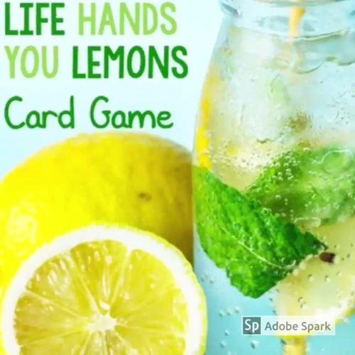 Growth Mindset Game Life Hands You Lemons Cards