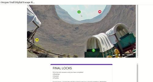 Oregon Trail DIGITAL ESCAPE ROOM for Google Drive®   Manifest Destiny