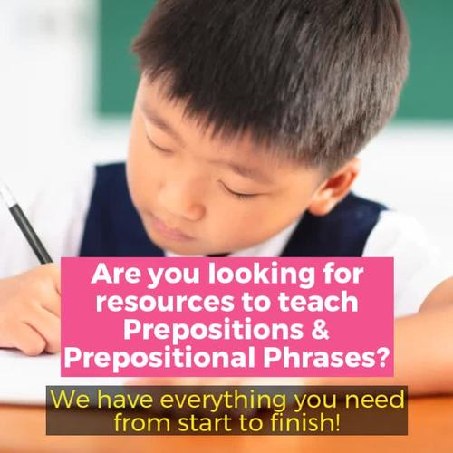 Prepositions and Prepositional Phrases Lesson with a Week's Worth of Practice!