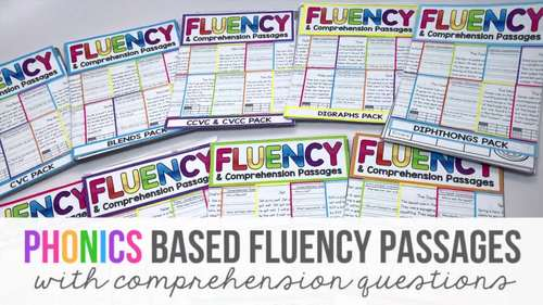 Phonics Based Reading Comprehension Passages and Questions | Phonics Worksheets