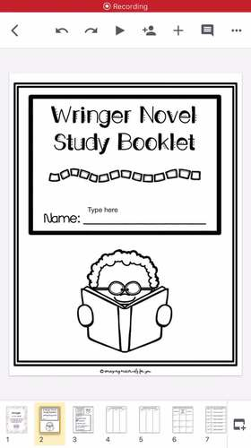 Wringer (Jerry Spinelli) A Complete Novel Study