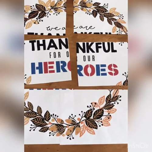 WE ARE THANKFUL FOR OUR HEROES / VETERANS - Veteran's Day Bulletin Board