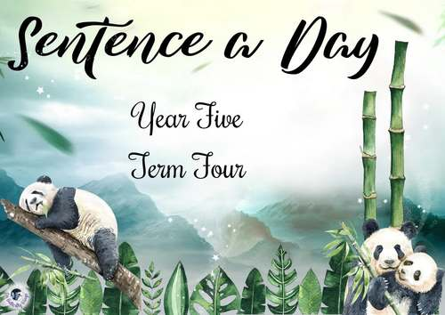 Sentence a Day Year 5 Term 4