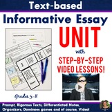 Informative Essay VIDEO Unit - Text-Based - FSA Writing!