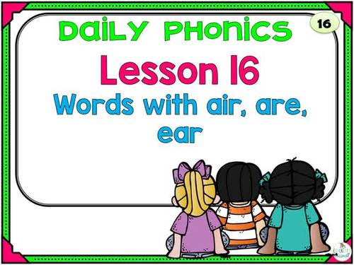 Phonics Daily PowerPoint for Third Grade,  Unit 4
