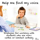 Communication Strategies For Students Who Are Non-verbal