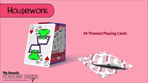 Housework Themed Playing Cards Deck