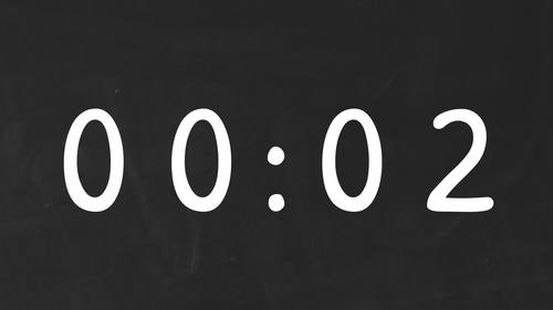 30 CHALKBOARD Video Countdown Timers - For PowerPoint, Google Slides, Keynote