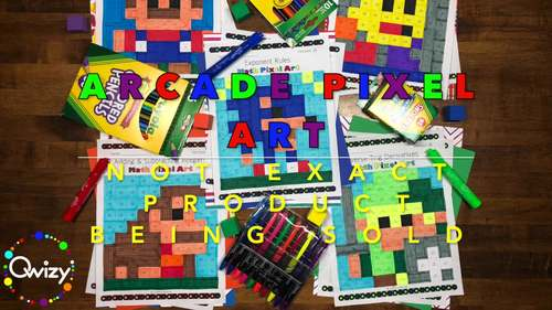 Arcade: Algebra Simplifying Polynomials #1 Pixel Art - Distance Learning Compat.