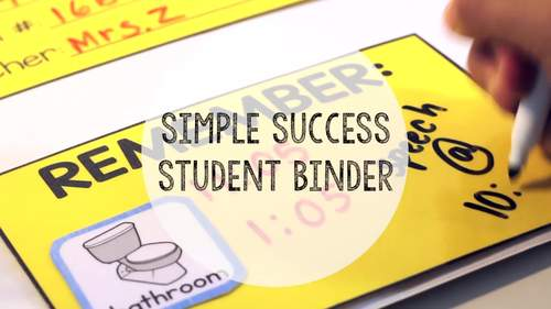 Simple Success Student Binder for Special Education