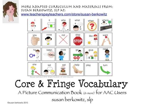 AAC Core Vocabulary Getting Started Activity Bundle for Beginning Communicators
