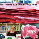 How To Make Your Own Texture Paper: Eric Carle Style