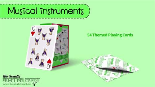 Musical instruments Themed Playing Cards Deck