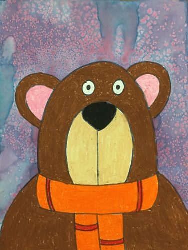 Winter Brown Bear Direct Drawing Video
