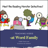 Word Family -at  Streaming Teaching Video & Workbook (Mons