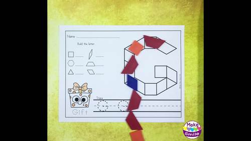 Letters Building with Pattern Blocks    MHS6