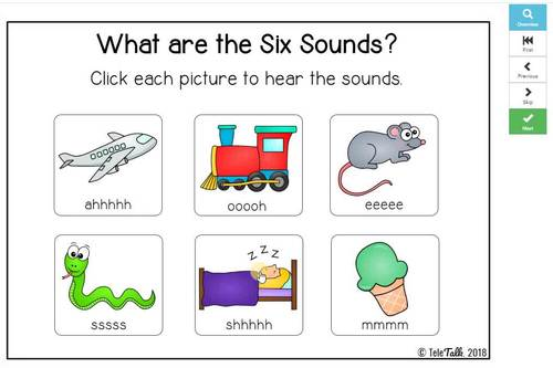 The Six Sound Test: Beginner Boom Cards™
