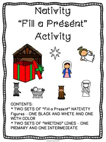 "Nativity ""Fill a Present"" and Writing Activity"