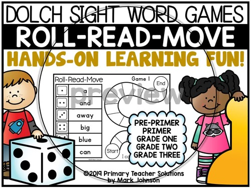 Dolch Sight Words: Roll-Read-Move Partner Games
