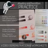 Pointillism & Stippling Demonstration Video with Worksheets