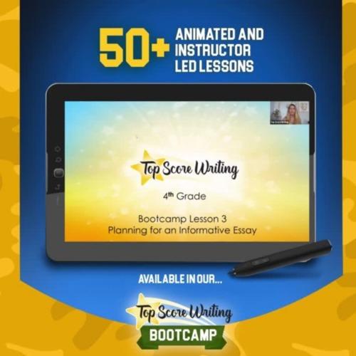 4th Grade FSA Writing Test Prep Bootcamp Planning Lesson (informative)