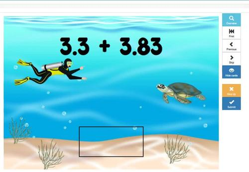 Adding and Subtracting Decimals Digital Interactive Boom Cards Distance Learning