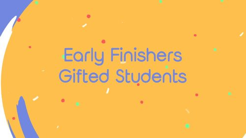 Early Finishers Math Enrichment & Homework Pack #1 || Distance Learning