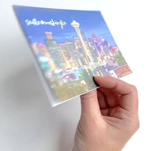 Postcard Past Tense Regular and Irregular Verbs for Google Drive™ No Print