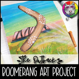 Australian Outback Art Project, Boomerang and Uluru Art Lesson