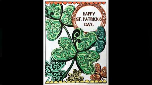 St. Patrick's Day Coloring Sheets / Pages and Letter