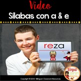Sílabas con a & e (video) DIstance Learning