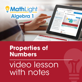 Properties of Numbers Review Video Lesson with Guided Note