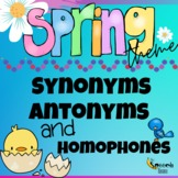 Spring Synonyms, Antonyms, & Homophones |  Distance Learni