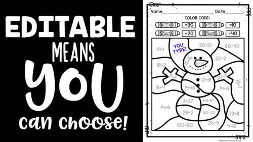 Color by Number Color by Sight Word Editable Coloring Pages