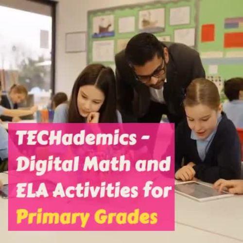 TECHademics - Kindergarten Math & ELA Full Year Bundle
