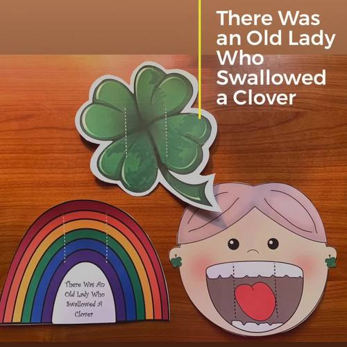 There Was An Old Lady Who Swallowed a Clover Sequence & Retell a Story Craft