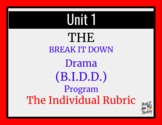 Break it Down Drama Rubrics: How To Use.
