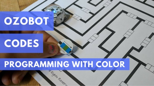 photograph regarding Ozobot Printable called Programming with the Ozobot: Mazes and Printable Sticker Codes